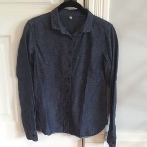 Muji, chambray shirt, 100% cotton